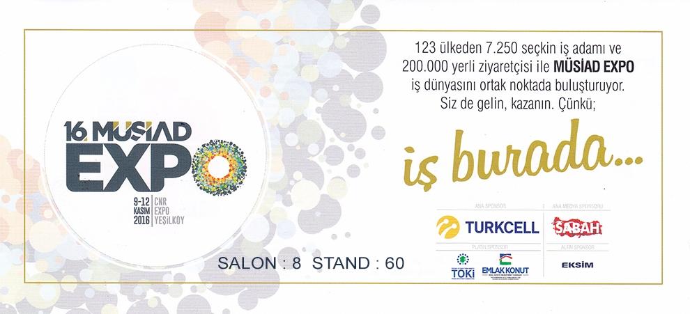 9-12 Kasım 2016 Müsiad Expo 2016